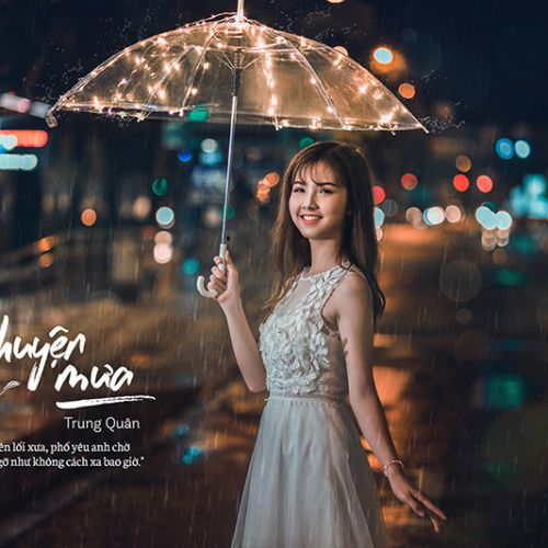 Em gái mưa với nụ cười tựa thiên thần